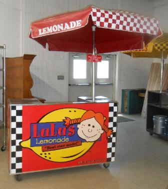 Lemonade Outdoor Vending Cart with Umbrella