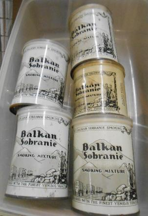 for auction Balkan Sobranie Smoking Advertising Tin