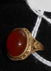 For auciton 14k gold ring with stone