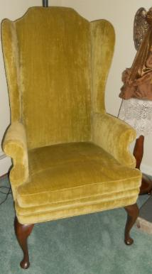 Pair of Walker wingback chairs