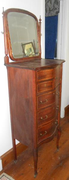 Mahogany Lingerie Bonnet chest with mirror