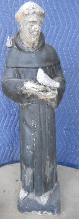 St. Francis cement statue