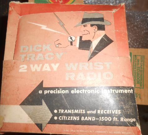 For auction 1961 Dick Tracy 2 Way Wrist Radio with original box