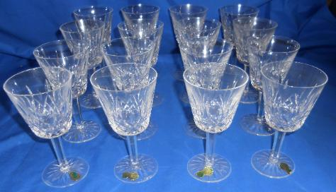 16 Waterford Lismore Claret glasses