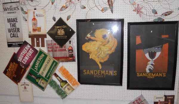 Contemporary metal beer signs, Contemporary Wine advertising signs