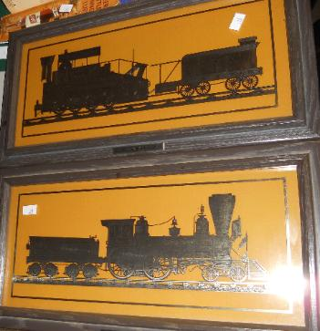 Franklin Mint 1977 Sterling Silver Train silhouettes