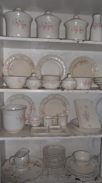 large set of Pfaltzgraff china Tea Rose pattern