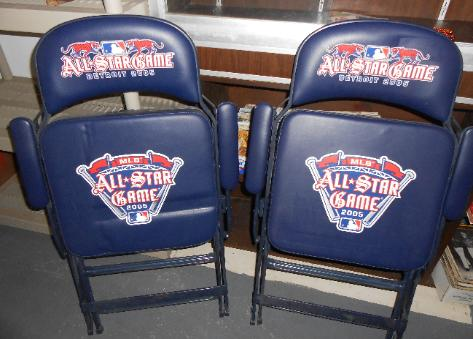 MLB 2005 All Star Game chairs
