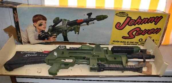 For auction 1964 Johnny Seven OMA Toy Gun with box